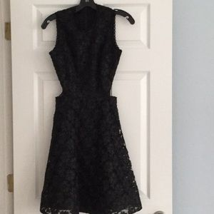 Alexis open flower lace dress